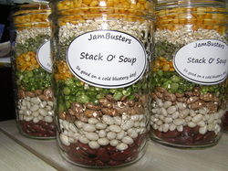 Photo of Stack O' Soup in a jar.