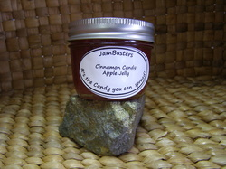 Photo of Cinnamon Candy Apple Jelly in a jar.