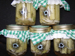 Photo of Princeton Mob Pickles in a jar.